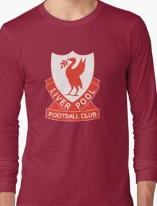 LIVERPOOL OLD LOGO crest badge vintage retro Long Sleeve T-Shirt