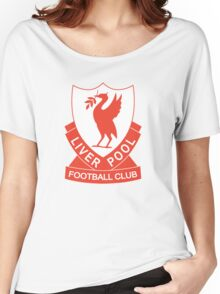 LIVERPOOL OLD LOGO crest badge vintage retro Women's Relaxed Fit T-Shirt