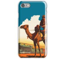 Travel by Trans-Australian Railway Vintage Travel Poster iPhone Case/Skin