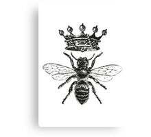 Queen Bee | Black & White Canvas Print