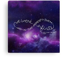 we were infinite (complete) Canvas Print