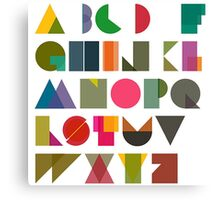 ABC alphabet FOR KIDS Canvas Print