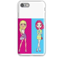 Pop Art girls in skirts with bags iPhone Case/Skin