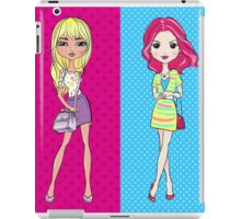 Pop Art girls in skirts with bags iPad Case/Skin