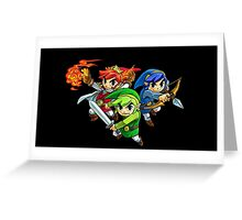 The Legend of Zelda - Tri-Force Hero's Three Links Greeting Card