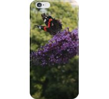 Red Admiral on rose bay willow herb flower  iPhone Case/Skin