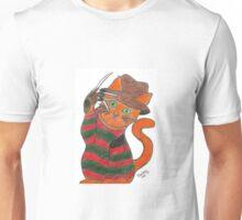 Pandora Fox Art Original Freddy Krueger Horror Cat  :D  Unisex T-Shirt