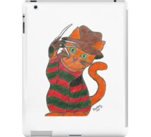 Pandora Fox Art Nightmare on Elm Street Freddy Krueger Horror Cat Collect Them All! :D  iPad Case/Skin