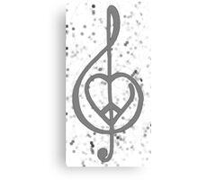 Peace, Love, Music Canvas Print