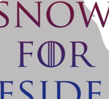 Snow for President Sticker