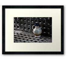 Ceramic Jug Framed Print