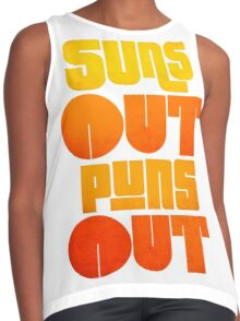 Sun's Out Puns Out Contrast Tank