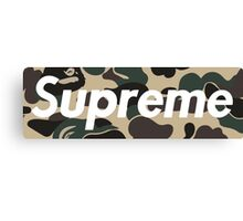 Supreme Bape Canvas Print
