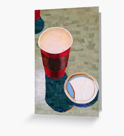 """Empty cup"" Greeting Card"