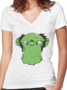 Green Monkey Women's Fitted V-Neck T-Shirt