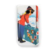Winter in Austria Vintage Travel Poster Samsung Galaxy Case/Skin
