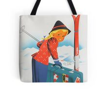 Winter in Austria Vintage Travel Poster Tote Bag