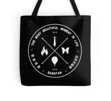 The Most Beautiful Moment In Life - White on Black Tote Bag