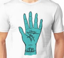 Change Your Fate - Blue Hand Unisex T-Shirt