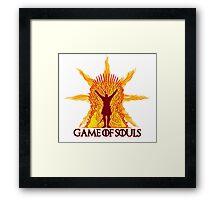 Game of Souls-flame Framed Print
