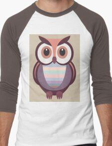 WIDE EYED OWL Men's Baseball ¾ T-Shirt