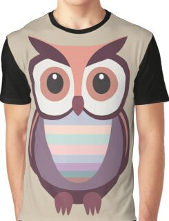 WIDE EYED OWL Graphic T-Shirt