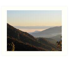 Valley Fog At Sunrise Art Print