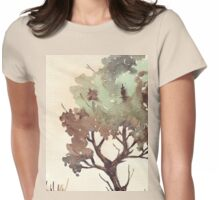 The lonely Black Wattle Womens Fitted T-Shirt