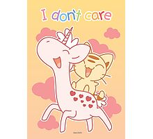 I Don't Care Photographic Print