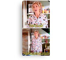 Buffy's Yummy Sushi Pyjamas  Canvas Print