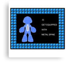 Mega Man Spinal Fusion - Get Equipped With Canvas Print