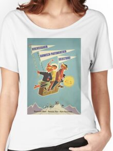 Austria, Germany Bavarian Alps Vintage Travel Poster Women's Relaxed Fit T-Shirt