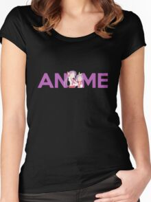 Anime Shirt Women's Fitted Scoop T-Shirt