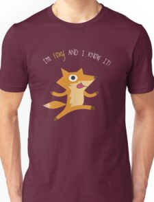 I'm Foxy & I Know It! Fox Unisex T-Shirt