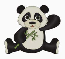 Cute Waving Panda Tees, Gifts One Piece - Long Sleeve