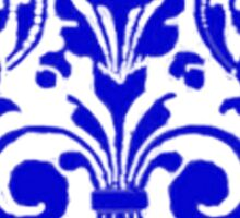 Blue floral 19th century printers' ornament design Sticker