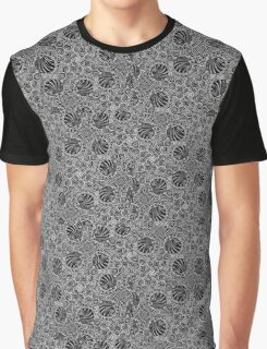Black and White Doodling Along Graphic T-Shirt