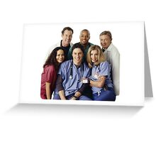 Scrubs Cast (early years) Greeting Card