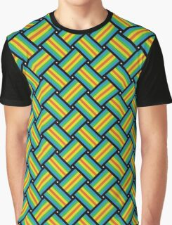 Heady Patchwork Pattern Graphic T-Shirt