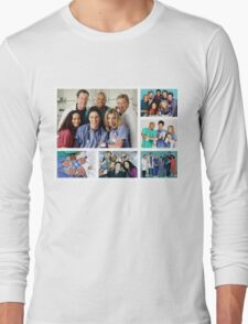 Scrubs Cast Photoshoot Collage Long Sleeve T-Shirt