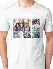 Scrubs Cast Photoshoot Collage Unisex T-Shirt