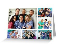 Scrubs Cast Photoshoot Collage Greeting Card