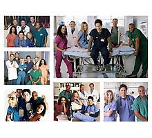 Scrubs Cast Photoshoot Collage Photographic Print