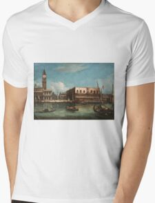 Vintage famous art - Canaletto Antonio - Palazzo Ducale  Mens V-Neck T-Shirt