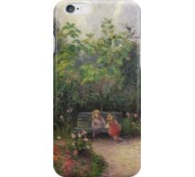 Vintage famous art - Camille Pissarro  - A Corner Of The Garden At The Hermitage, Pontoise iPhone Case/Skin