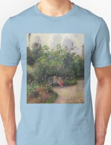 Vintage famous art - Camille Pissarro  - A Corner Of The Garden At The Hermitage, Pontoise Unisex T-Shirt