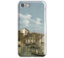 Vintage famous art - Canaletto Antonio - Grand Canal From Palazzo Flangini To Palazzo Bembo 1735 - 1745  iPhone Case/Skin