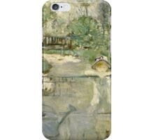 Vintage famous art - Berthe Morisot  - The Basket Chair iPhone Case/Skin