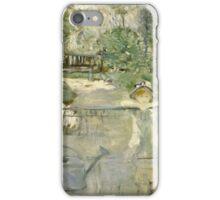 Vintage famous art - Berthe Morisot  - The Basket Chair iPhone Case/Skin
