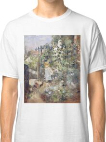 Vintage famous art - Berthe Morisot  - A Child In The Rosebeds Classic T-Shirt